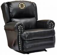 Boston Bruins Leather Coach Recliner