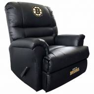 Boston Bruins Leather Sports Recliner