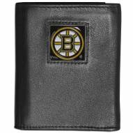Boston Bruins Leather Tri-fold Wallet