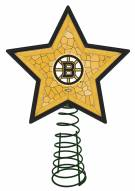 Boston Bruins Light Up Art Glass Mosaic Tree Topper