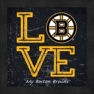 Boston Bruins Love My Team Color Wall Decor