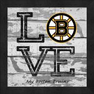 Boston Bruins Love My Team Square Wall Decor
