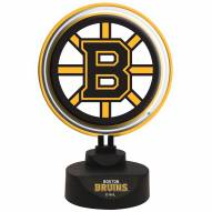 Boston Bruins Team Logo Neon Light
