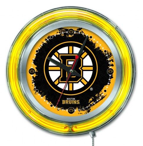 Boston Bruins Neon Clock