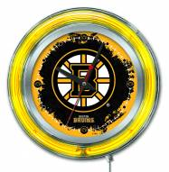 Boston Bruins Neon Clock