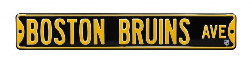 Boston Bruins NHL Authentic Street Sign