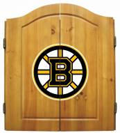Boston Bruins NHL Complete Dart Board Cabinet Set