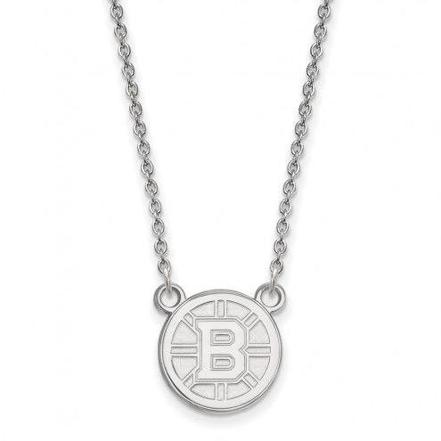 Boston Bruins Sterling Silver Small Pendant Necklace