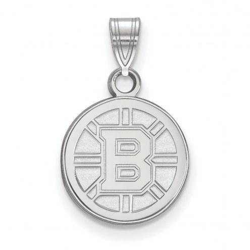 Boston Bruins Sterling Silver Small Pendant