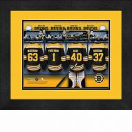 Boston Bruins Personalized Locker Room 13 x 16 Framed Photograph