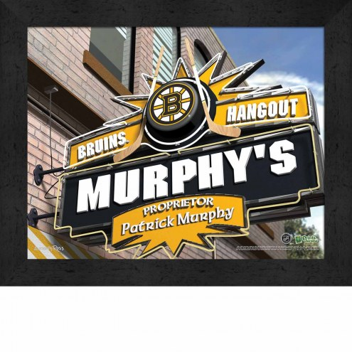 Boston Bruins 11 x 14 Personalized Framed Sports Pub Print