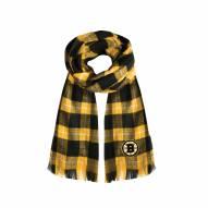 Boston Bruins Plaid Blanket Scarf