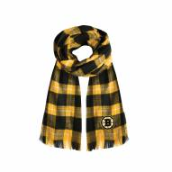 Boston Bruins Plaid Blanket Scarf