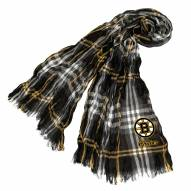 Boston Bruins Plaid Crinkle Scarf