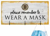 Boston Bruins Please Wear Your Mask Sign