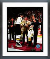 Boston Bruins Ray Bourque & Phil Esposito 1987-88 Framed Photo