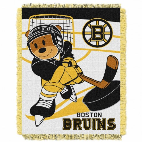 Boston Bruins Score Baby Blanket