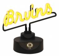 Boston Bruins Script Neon Desk Lamp