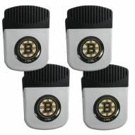 Boston Bruins 4 Pack Chip Clip Magnet with Bottle Opener