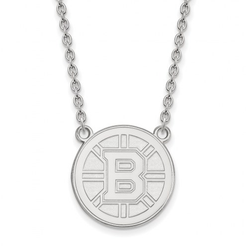Boston Bruins Sterling Silver Large Pendant Necklace