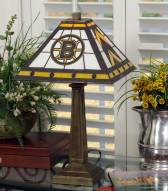 Boston Bruins Stained Glass Mission Table Lamp