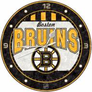 Boston Bruins Stained Glass Wall Clock