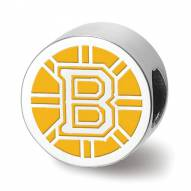 Boston Bruins Sterling Silver Enameled Bead