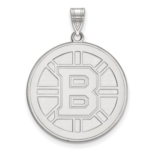 Boston Bruins Sterling Silver Extra Large Pendant