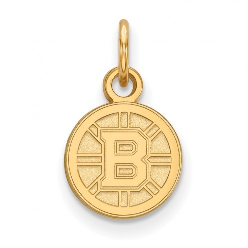 Boston Bruins Sterling Silver Gold Plated Extra Small Pendant