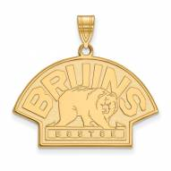 Boston Bruins Sterling Silver Gold Plated Large Pendant