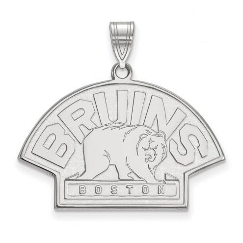 Boston Bruins Sterling Silver Large Pendant