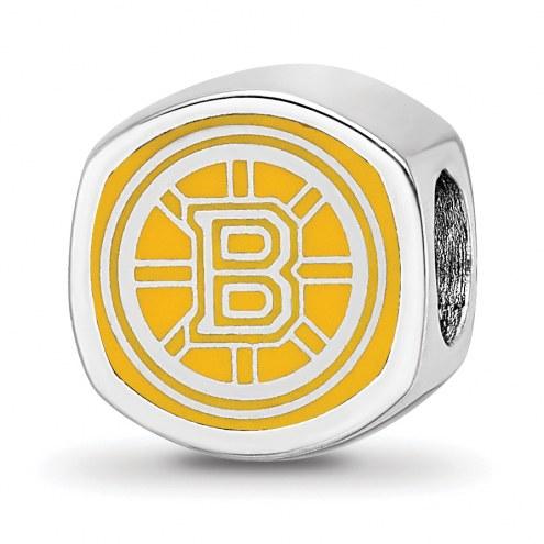 Boston Bruins Sterling Silver Logo Bead