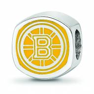 Boston Bruins Sterling Silver Logo Bead