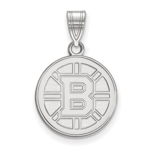Boston Bruins Sterling Silver Medium Pendant