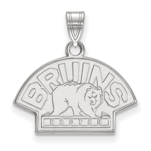 Boston Bruins Sterling Silver Small Pendant