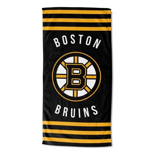Boston Bruins Stripes Beach Towel