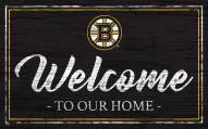 Boston Bruins Team Color Welcome Sign