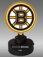 Boston Bruins Team Logo Neon Lamp