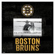 "Boston Bruins Team Name 10"" x 10"" Picture Frame"
