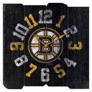 Boston Bruins Vintage Square Clock