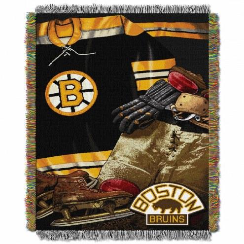 Boston Bruins Vintage Throw Blanket