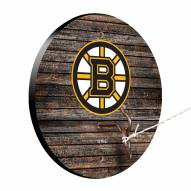 Boston Bruins Weathered Design Hook & Ring Game