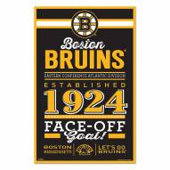 Boston Bruins Established Wood Sign