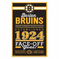 Boston Bruins Established Wood Sign