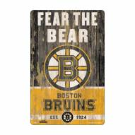 Boston Bruins Slogan Wood Sign