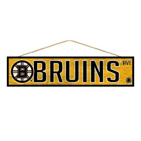 Boston Bruins Wood Avenue Sign