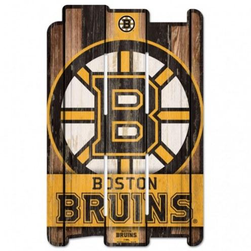 Boston Bruins Wood Fence Sign