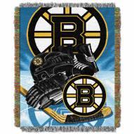 Boston Bruins Woven Tapestry Throw Blanket