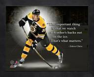 Boston Bruins Zdeno Chara Framed Pro Quote