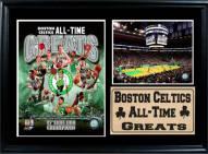 "Boston Celtics 12"" x 18"" Greats Photo Stat Frame"